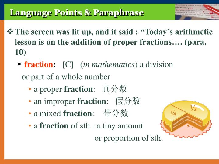 Language Points & Paraphrase
