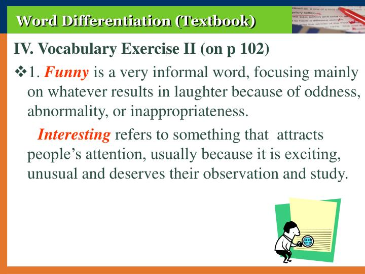 Word Differentiation (Textbook)