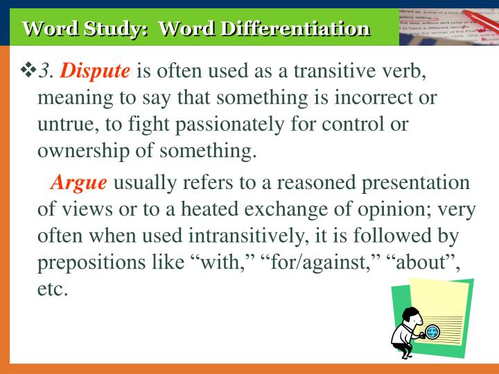 Word Study:  Word Differentiation