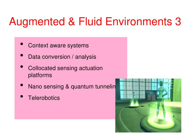 Augmented & Fluid Environments 3