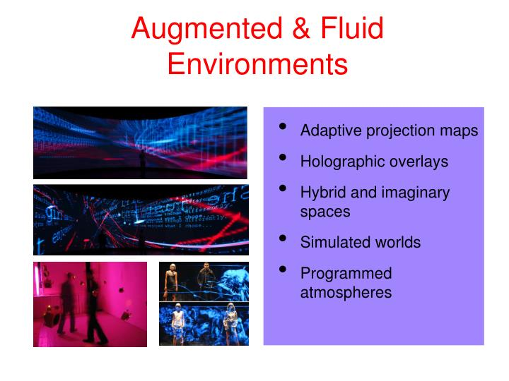 Augmented & Fluid Environments