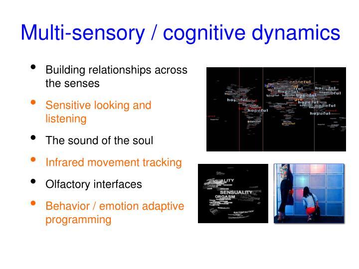 Multi-sensory / cognitive dynamics