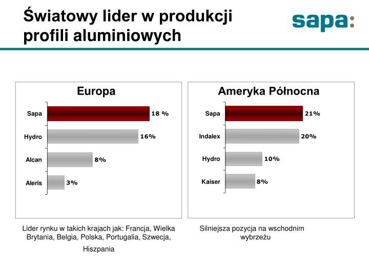 Światowy lider w produkcji profili aluminiowych