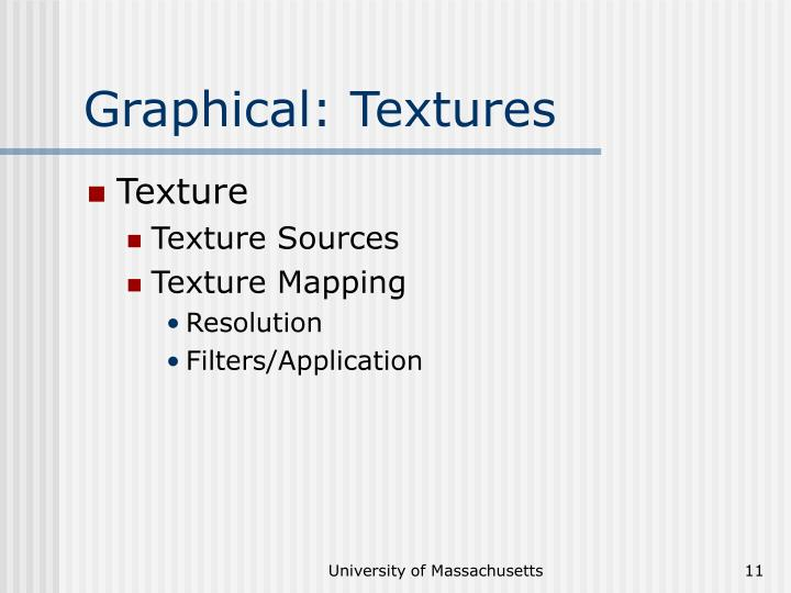 Graphical: Textures