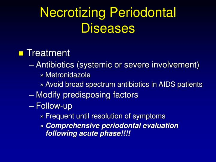 Necrotizing Periodontal Diseases