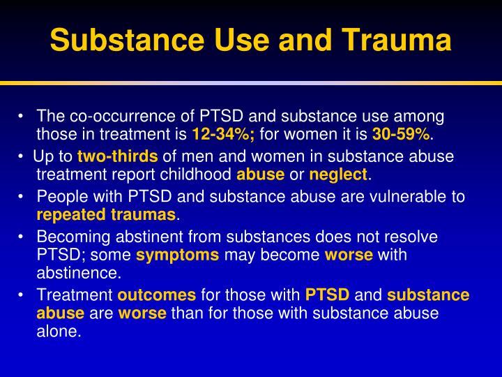 Substance Use and Trauma
