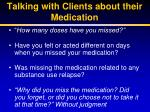 talking with clients about their medication2
