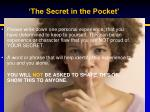 the secret in the pocket