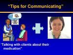 tips for communicating