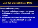 use the microskills of mi to1