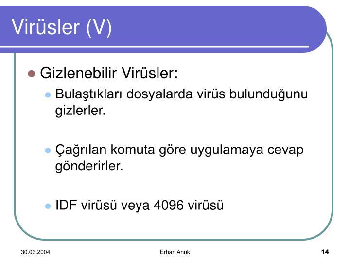 Virüsler (V)