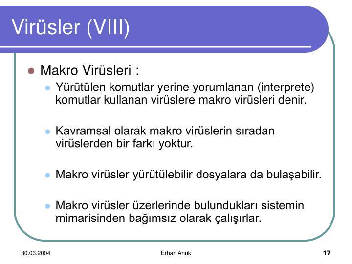 Virüsler (VIII)