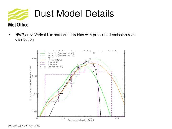 Dust Model Details