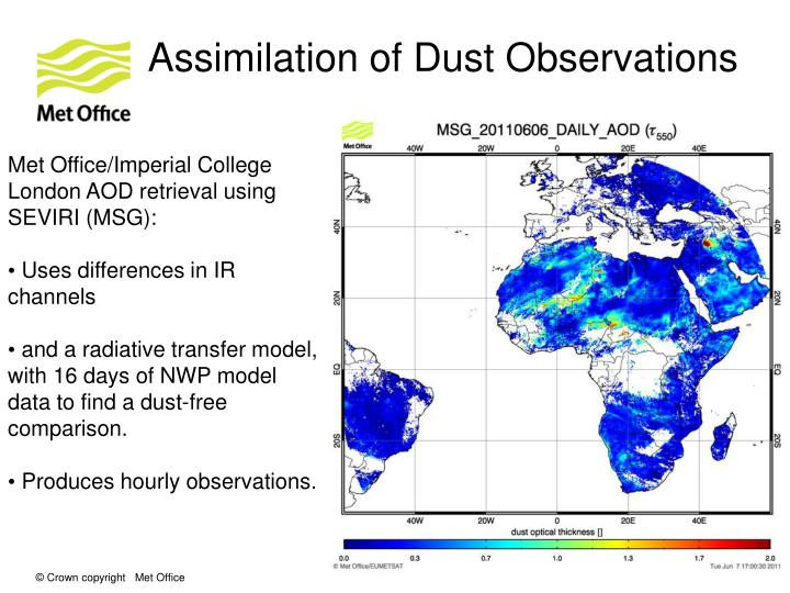 Assimilation of Dust Observations