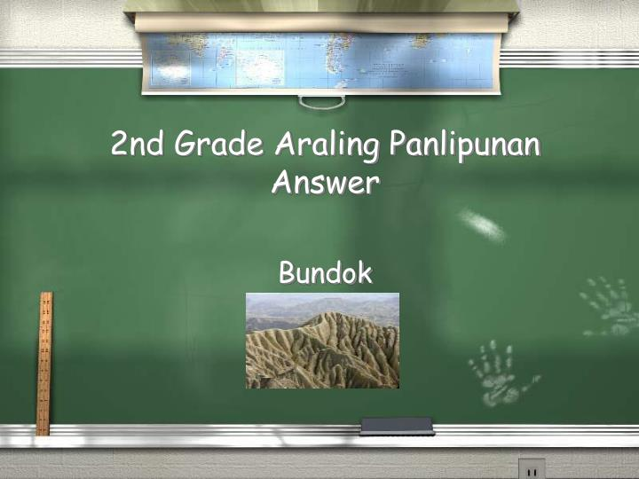 2nd Grade Araling Panlipunan Answer