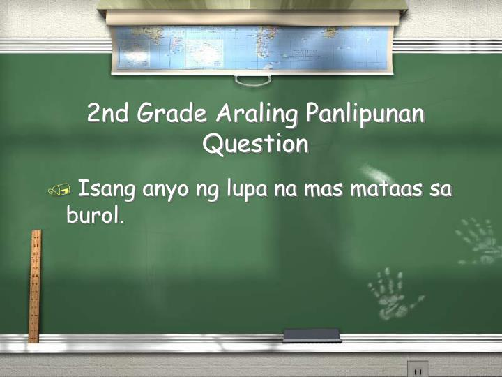2nd Grade Araling Panlipunan Question