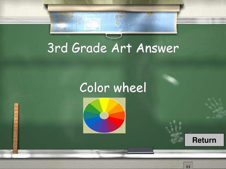 3rd Grade Art Answer