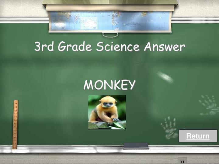 3rd Grade Science Answer