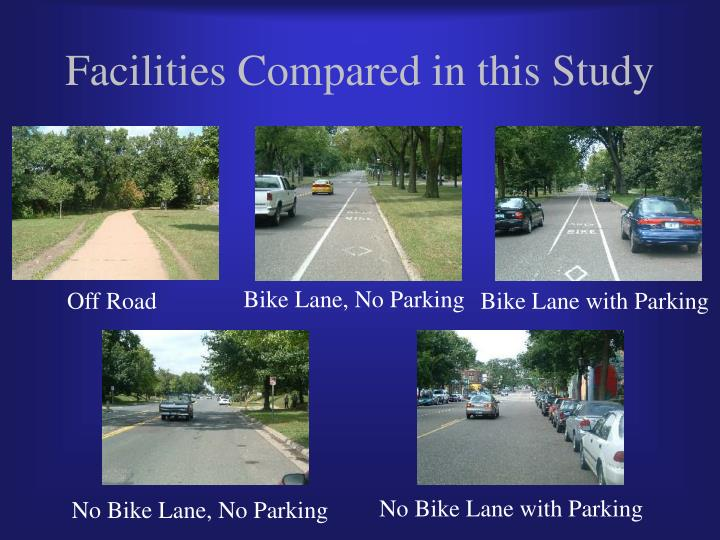 Facilities Compared in this Study