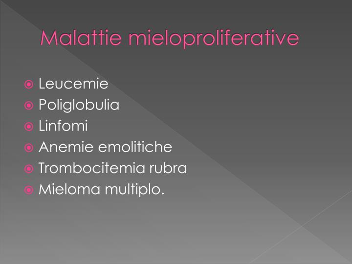 Malattie mieloproliferative