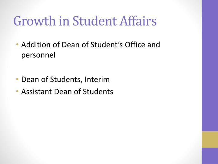 Growth in Student Affairs
