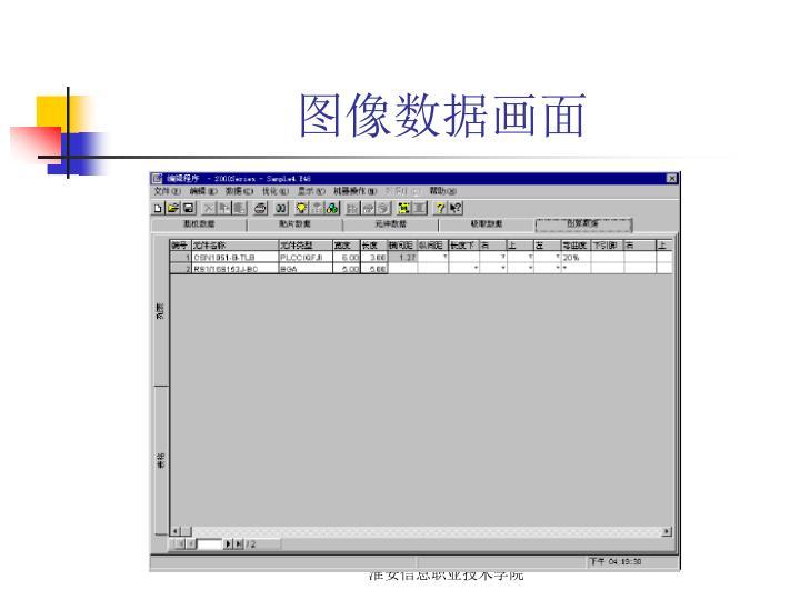 图像数据画面