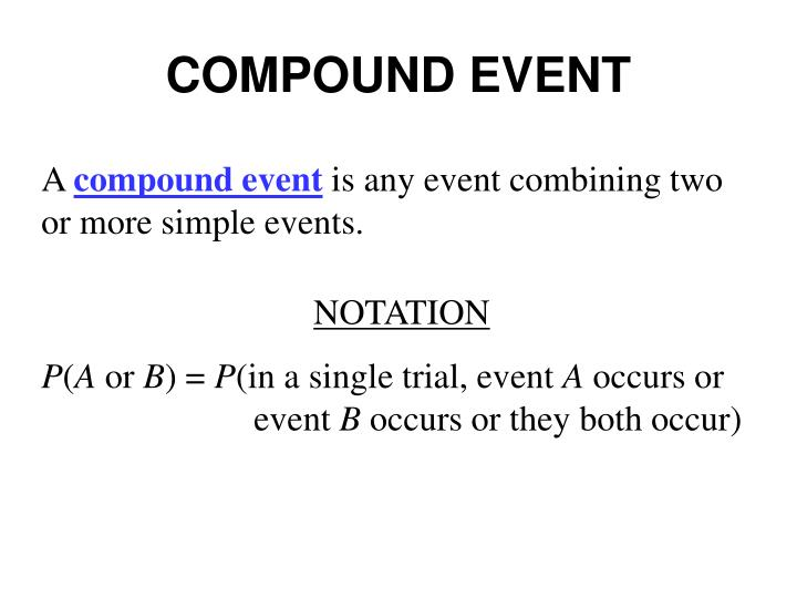 COMPOUND EVENT