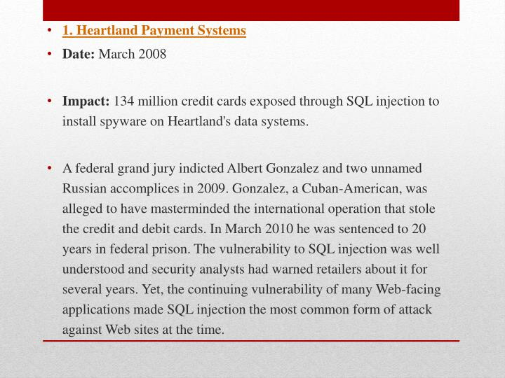 1. Heartland Payment Systems