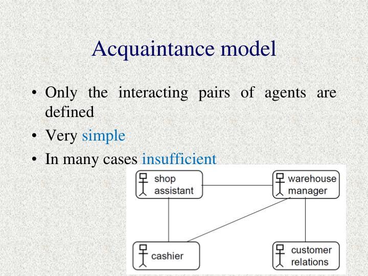 Acquaintance model