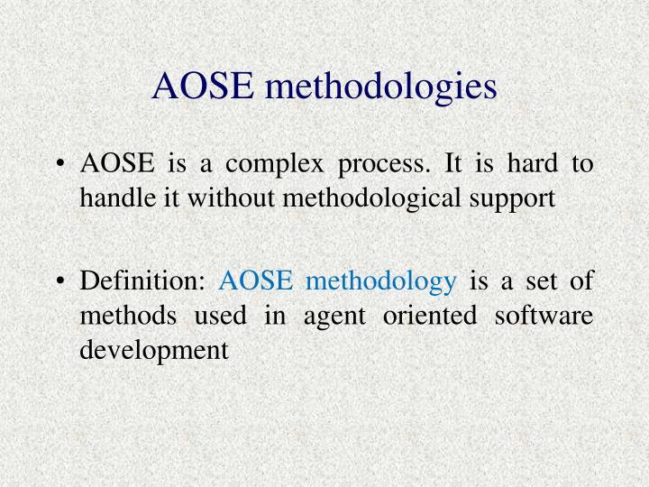 AOSE methodologies