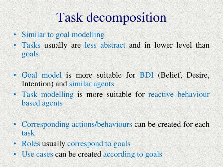 Task decomposition