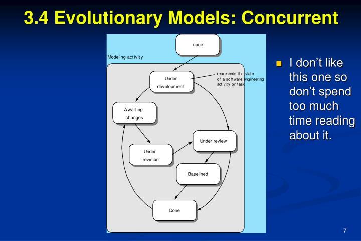 3.4 Evolutionary Models: Concurrent