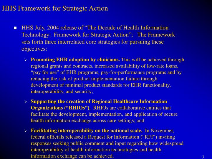 HHS Framework for Strategic Action