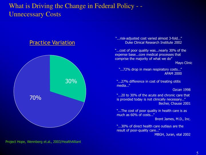 What is Driving the Change in Federal Policy - -