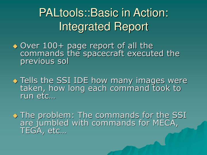 PALtools::Basic in Action: