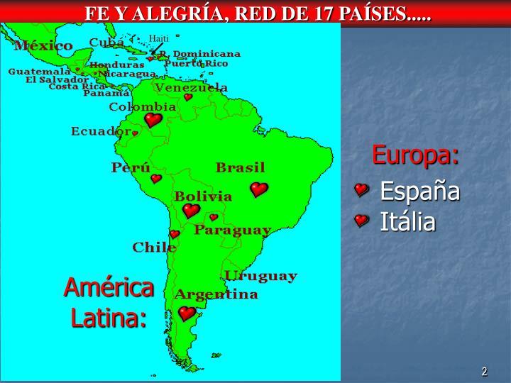 FE Y ALEGRÍA, RED DE 17 PAÍSES.....