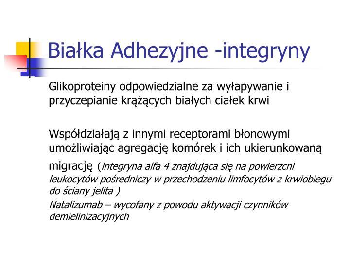 Białka Adhezyjne -integryny