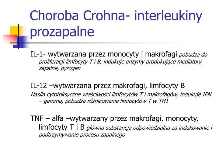 Choroba Crohna- interleukiny prozapalne