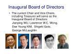 inaugural board of directors