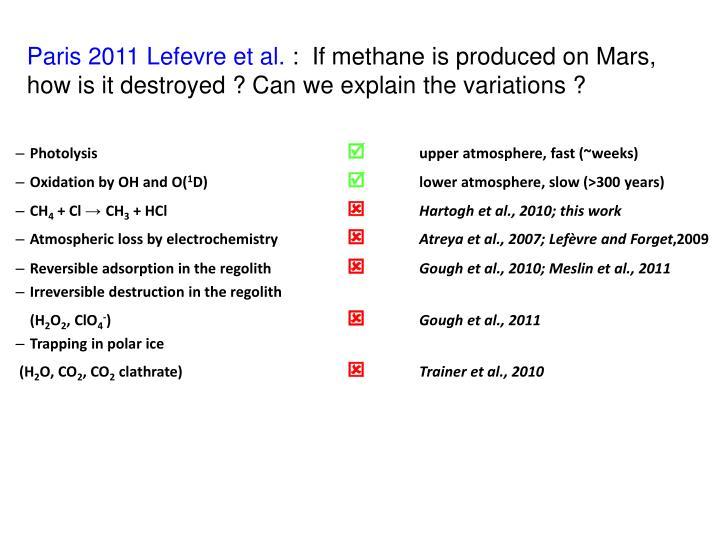 Paris 2011 Lefevre et al.