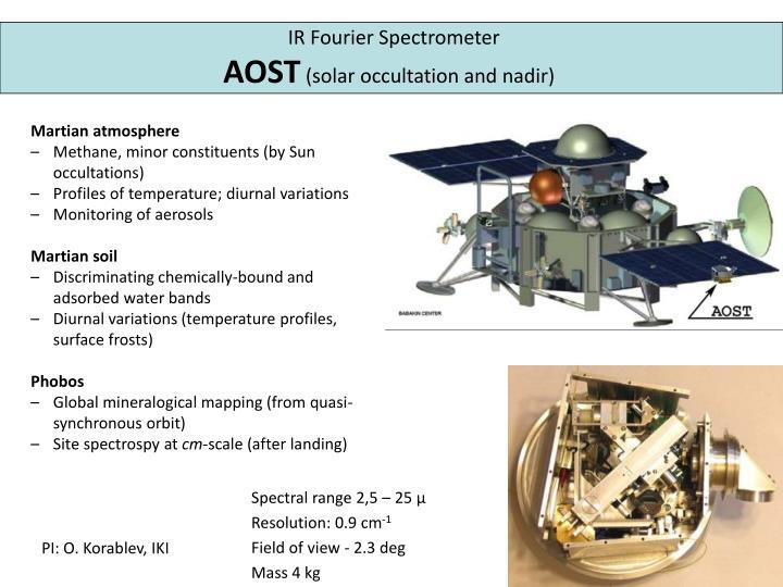IR Fourier Spectrometer