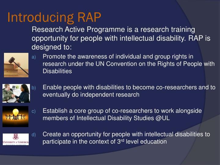 Introducing RAP