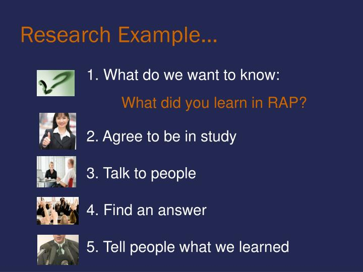 Research Example…