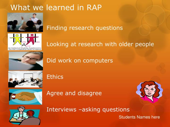 What we learned in RAP