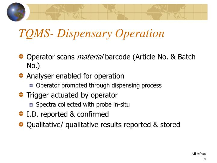 TQMS- Dispensary Operation