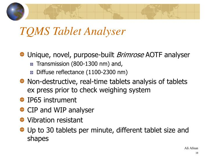 TQMS Tablet Analyser
