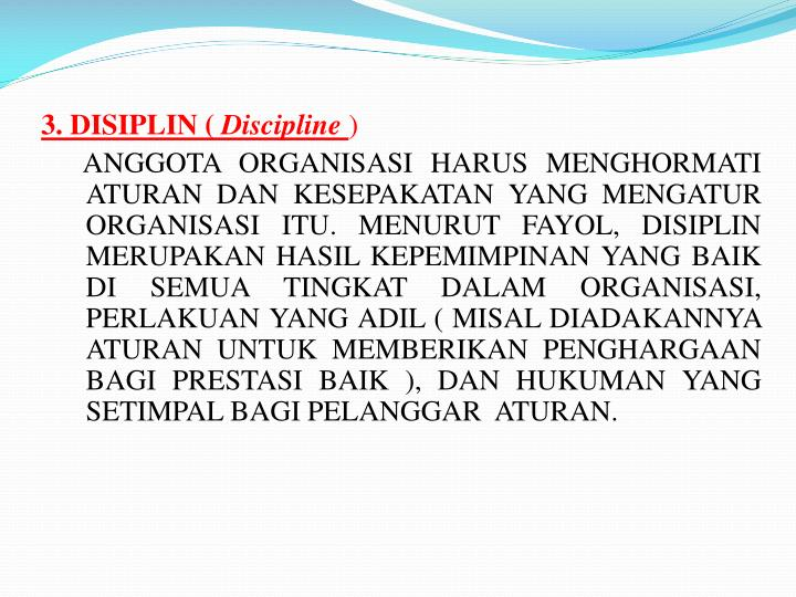 3. DISIPLIN (