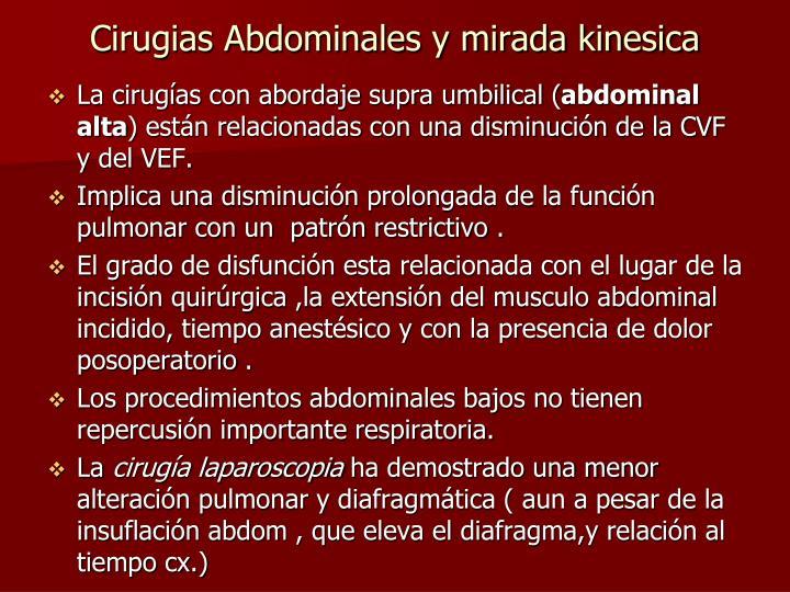 Cirugias Abdominales y mirada kinesica