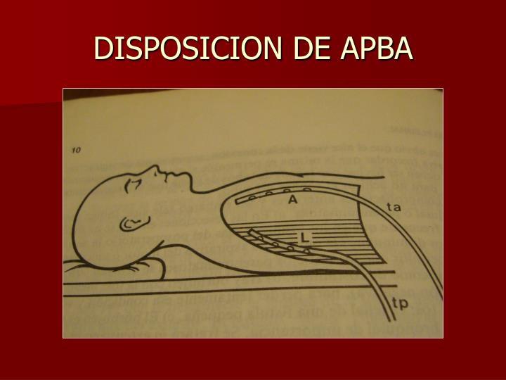 DISPOSICION DE APBA