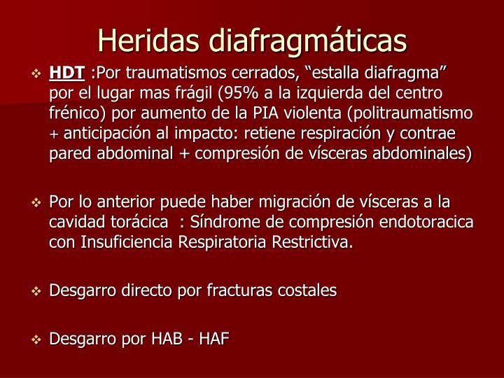 Heridas diafragmáticas